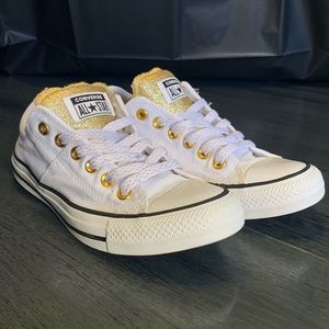 Converse Sneakers - Gold Sparkles White SZ 7
